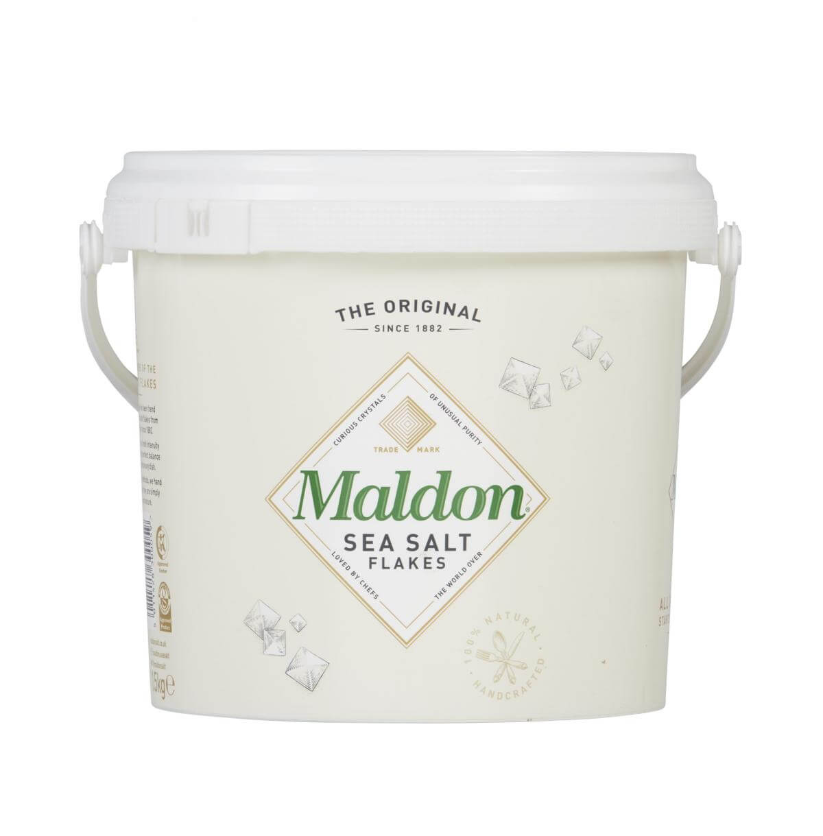Meersalz - Sea Salt kaufen Meersalzkristalle Meersalz in Flocken-Form aus England Maldon Salt bestellen