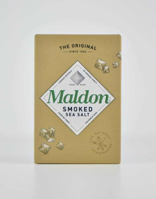 geräuchert smoked Meersalzkristalle Meersalz in Flocken-Form aus England Maldon Salt bestellen